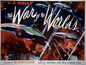 Classic Sf Posters Framed Prints - The War Of The Worlds, 1953 Framed Print by Everett