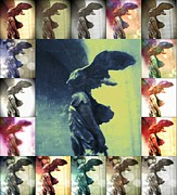 Angel Modern Art Posters - The Winged Victory - Paris - Louvre Poster by Marianna Mills