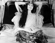 Negligee Framed Prints - Theda Bara (1885-1955) Framed Print by Granger