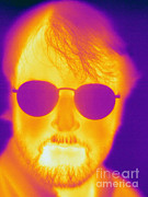 Human Being Posters - Thermogram Of A Man Poster by Ted Kinsman