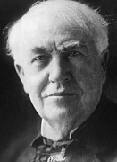 Edison Metal Prints - Thomas Alva Edison 1847-1931 Metal Print by Everett