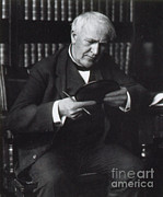 Thomas Alva Edison Prints - Thomas Edison, American Inventor Print by Science Source