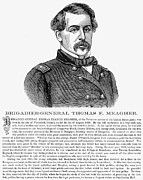 Francis Framed Prints - Thomas Francis Meagher Framed Print by Granger