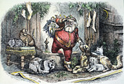 Fireplace Photos - Thomas Nast: Santa Claus by Granger