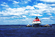 Thomas R. Fletcher Digital Art Prints - Thomas Point Shoal Lighthouse Print by Thomas R Fletcher
