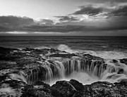Turbulent Skies Metal Prints - Thors Well Metal Print by Keith Kapple