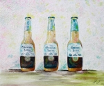 Happy Hour Prints - Three Amigos Print by Barbara Teller
