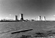 Power Plants Prints - Three Mile Island Nuclear Generating Print by Everett