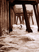 Surf City Framed Prints - Thrill Ride Framed Print by Ron Regalado
