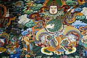 Mural Photos - Tibetan Buddhist Mural by Michele Burgess