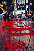 New York City Rain Prints - Times Square Print by Benjamin Matthijs