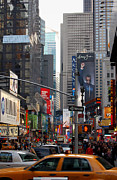 Samsung Framed Prints - Times Square Framed Print by RicardMN Photography