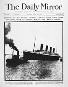 Front Page Framed Prints - Titanic Headline, 1912 Framed Print by Granger