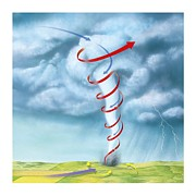 Opposite Directions Posters - Tornado Dynamics, Artwork Poster by Gary Hincks