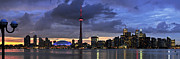 Scenic Posters - Toronto skyline Poster by Elena Elisseeva
