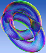 2d Framed Prints - Torus Framed Print by Eric Heller