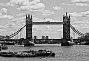 Barges Prints - Tower Bridge Print by Dawn OConnor