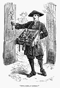 Knife Work Prints - TOWN CRIER, 18th CENTURY Print by Granger