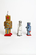 Comparison Framed Prints - Toy Robots Framed Print by Photo Researchers, Inc.
