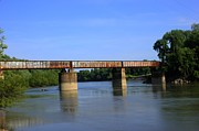 Train Bridge Prints - Train Bridge Over Black River at Black Rock Arkansas Print by Geary Barr