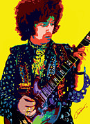 Rock Star Prints On Canvas Posters - Transcendent Clapton Poster by John Travisano
