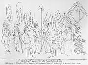 Political Allegory Metal Prints - `treaty Of Paris, 1783 Metal Print by Granger