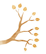 Branch Painting Posters - Tree Branch Poster by Frank Tschakert