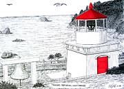 Pacific Coast And Western Artwork - Trinidad Memorial Lighthouse by Frederic Kohli