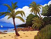 Tropical Artwork By Frederic Kohli - Tropical Island Beach by Frederic Kohli