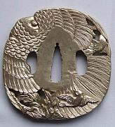 Chinese Sculptures - Tsuba Fuchi Kashira Seppa Habaki Kurigata Of Handmade Katana Sword Fittings by Charles  Wu