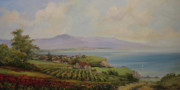 Tuscan Paintings - Tuscan landscape by Tigran Ghulyan
