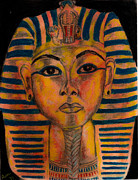 Pharaoh Pastels Prints - Tut Print by Ashley Henry