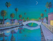 Refelctions Framed Prints - Twilight on Retro Canal Framed Print by Frank Strasser
