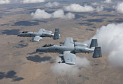 Armament Framed Prints - Two A-10 Thunderbolts Fly Framed Print by HIGH-G Productions