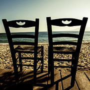Wooden Chair Prints - Two Chairs Print by Joana Kruse