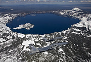 Crater Lake View Photos - Two F-15 Eagles Fly Over Crater Lake by HIGH-G Productions