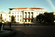 University Of California At Berkeley Metal Prints - UC Berkeley . Sproul Hall . Sproul Plaza . Occupy UC Berkeley . 7D9994 Metal Print by Wingsdomain Art and Photography