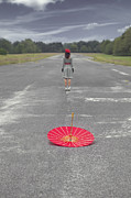 Asphalt Photos - Umbrella by Joana Kruse