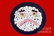 Depressed Prints - Unhappy Pills Print by Photo Researchers, Inc.