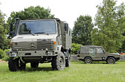 Component Metal Prints - Unimog Truck Of The Belgian Army Metal Print by Luc De Jaeger
