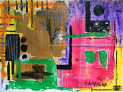 Colored Pencil Mixed Media Metal Prints - Untitled Metal Print by Teddy Campagna