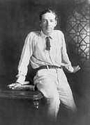 Author Prints - Upton Sinclair 1879-1968 American Print by Everett