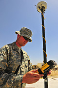 Operation Enduring Freedom Photos - U.s. Air Force Engineer Using Global by Stocktrek Images