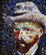 Fused Glass Art - Van Gough by Gladys Espenson