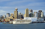 Panoramics Framed Prints - Vancouver skyline Framed Print by John Greim