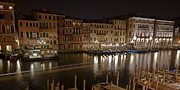 Italian Sunset Metal Prints - Venice by night Metal Print by Joana Kruse