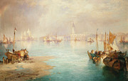 Port Town Paintings - Venice by Thomas Moran