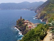 Europe Photo Framed Prints - Vernazza Cinque Terre Italy Framed Print by Marilyn Dunlap