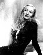 Evening Dress Framed Prints - Veronica Lake, Portrait Framed Print by Everett
