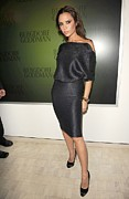 Sheath Dress Posters - Victoria Beckham Wearing A Victoria Poster by Everett